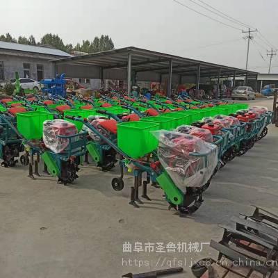 单行双行播种机厂家 手推式汽油柴油播种机 双行汽油施肥机视频