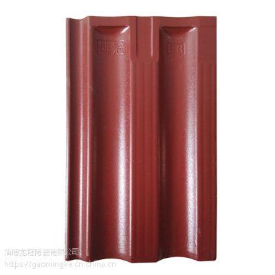 山东淄博釉面瓦厂家,供应陶瓷陶土釉面瓦,民房屋面防水,经济实惠