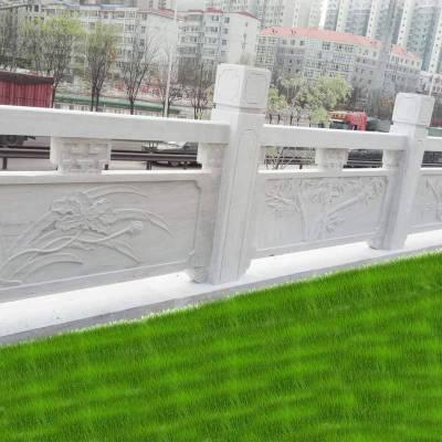 河道桥边栏杆制作厂家-专业石材栏杆批发定做-曲阳县聚隆园林雕塑有限公司
