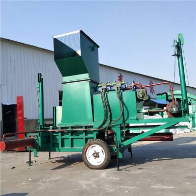 内蒙储秸秆打包机 全自动液压青贮装袋机厂家 牛羊马发酵秸秆捆包机厂家