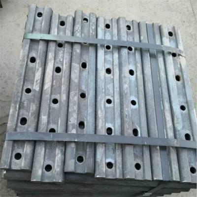 矿用伸缩缝道夹板 轨道用优质钢轨连接鱼尾板道夹板 中重现货