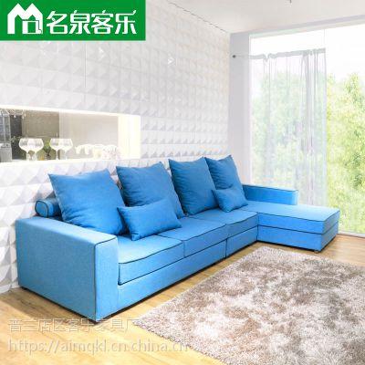 1055-17-3米6客厅简约沙发大连软包家具工厂直销