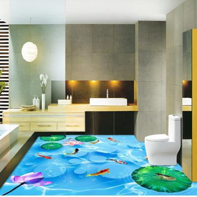 高清鲤鱼戏水立体地板砖怎么购买