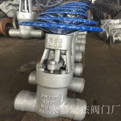 Z62Y-320C 高压电站焊接闸阀 Z62Y 自密封闸阀 耐压耐温手动闸阀