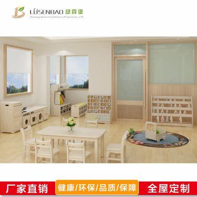 幼儿园家具_长方桌圆桌四方桌_儿童实木学习桌椅-绿森堡厂家定制