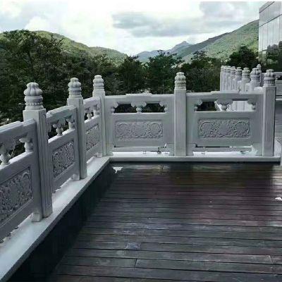 大理石围栏批发厂家-石材栏杆定做安装