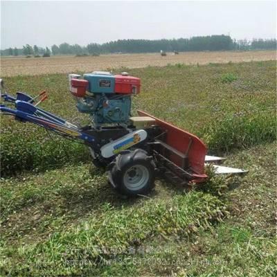 手推式高矮作物收割机 辣椒大豆割晒机视频 鸿睿艾草种植收割机