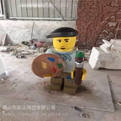 广东商业动漫人物卡通型定制玻璃钢雕塑-联尖雕塑