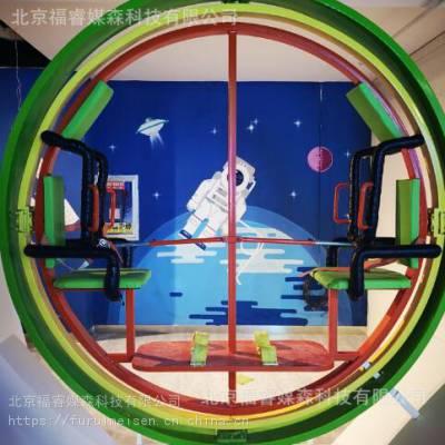 研学旅行基地 太空环 科技馆设备三维滚环