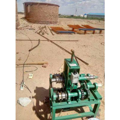 电动大弧度弯管机 山东济宁小型管子折弯机76型2.2kw