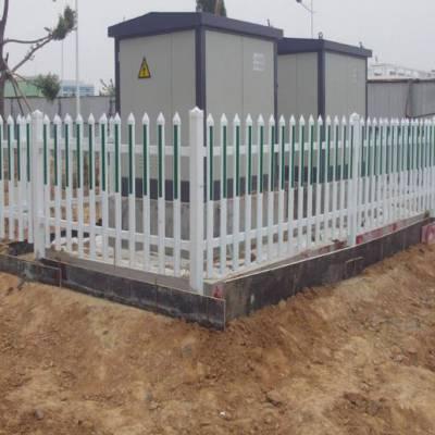 PVC插条围栏/幼儿园透景栅栏/PVC塑钢护栏现货供应