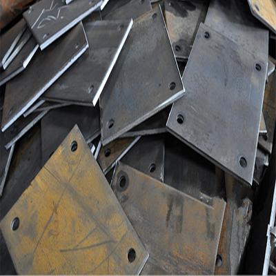 批发钢材 钢板预埋件打孔切割 彩蓬柱底板加工