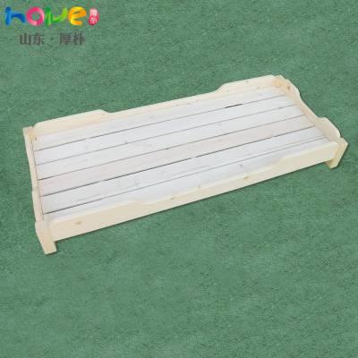 儿童午睡重叠床 山东厚朴幼儿园实木方腿午休叠叠床批发