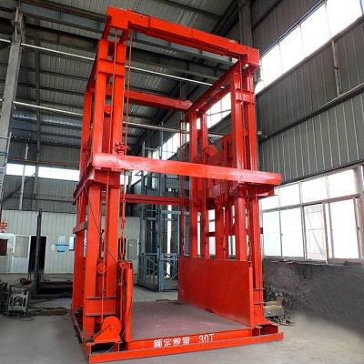 济南恒久定制2/3/4/5吨导轨链条式液压升降机、2/3层导轨式升降平台、液压升降机、现货全国直发