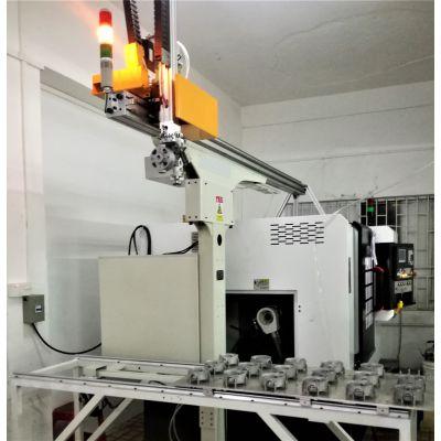 电机端盖CNC车床自动上下料机械手-桁架机械手-1人可看管4-6台机床