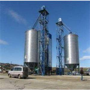 1000吨大型粮食钢板仓 饲料钢板仓厂家锦邦