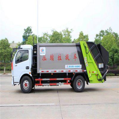 东风天龙16方垃圾压缩车价格 挂桶式垃圾车厂家