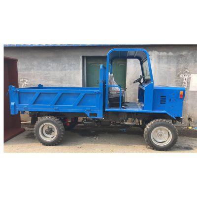 福建钢筋水泥运输柴油四驱拖拉机/防滑胎四不像自卸车