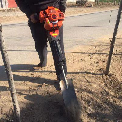 铲式挖树机 手持移树断根机视频