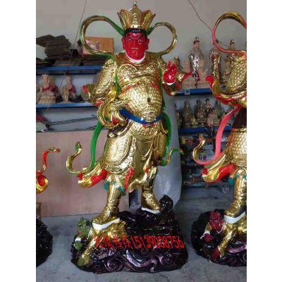 魔家四兄弟雕像 四大天王佛像 寺庙护法佛像厂家供应