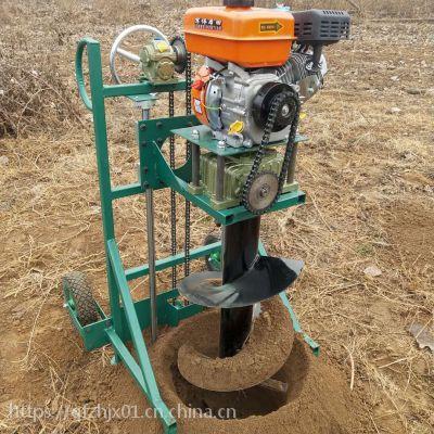 智航60cm直径大棚立柱挖坑机 信号指示牌钻眼机 农场庄园用植树挖坑机