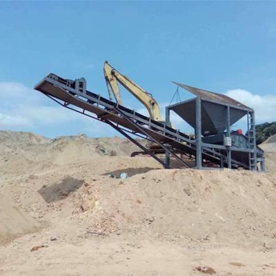 河源震动式筛砂机-震动式筛砂机价格-百洪机械