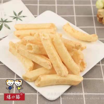 第六田园薯片设备厂家直销。方形空心薯条膨化休闲食品工艺流程
