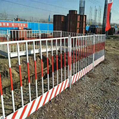 基坑铁马 基坑护栏生产厂家基坑护栏常规 白黄颜色
