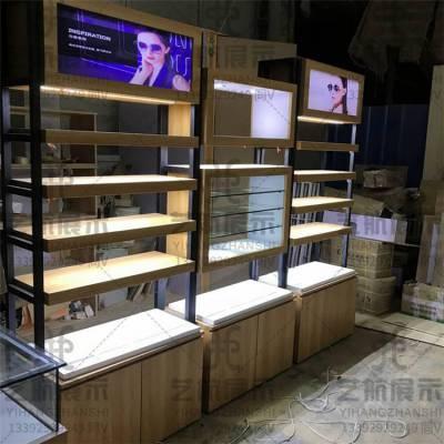 四川眼镜店高端木纹眼镜展示柜台实木眼镜展柜靠墙