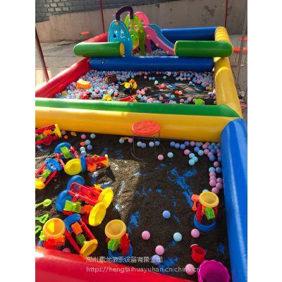 加厚单层充气钓鱼池 宝宝戏水池钓鱼池玩具工厂定做 充气海洋球池钓鱼池加厚材料
