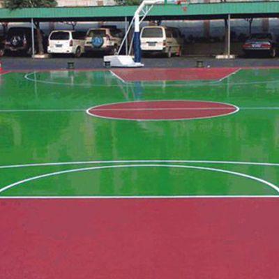 硅PU球场地坪施工 厂家直销 弹性球场运动场地坪材料 室内外篮球场施工 德朝体育