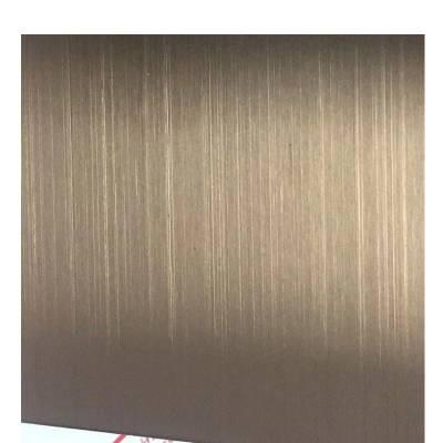 现货201/304玫瑰金不锈钢板 抗指纹 拉丝玫瑰金 发纹玫瑰金厂家