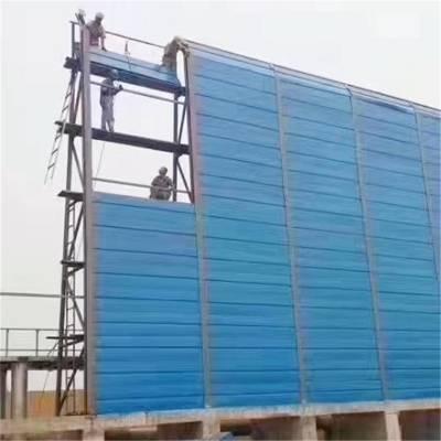 河南驻马店声屏障高速公路镀锌板降噪隔音屏障施工可定制安装厂家金属吸音板
