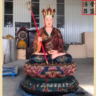 【温州地藏王厂家】供应 地藏王菩萨坐莲花像 现场图片拍摄