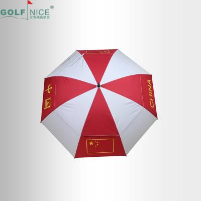 厂家直销 双层高尔夫伞 国家队8骨雨伞 定制logo