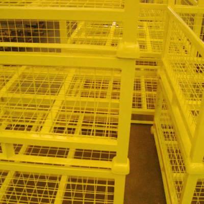 济宁汶上周转笼 仓储物流专用仓储笼 可折叠式配件存储笼 蝴蝶笼