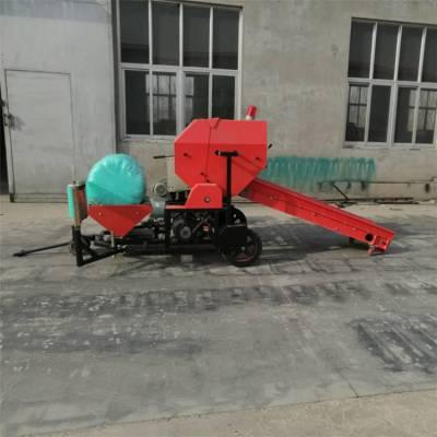 稻草杆玉米杆用打捆包膜机 润丰 养殖场用麦秆打捆机