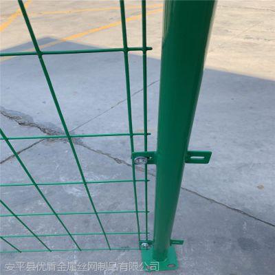 焊接绿色隔离栅铁丝网 圈山圈地用隔离网 桥梁防抛网定制公路护栏网