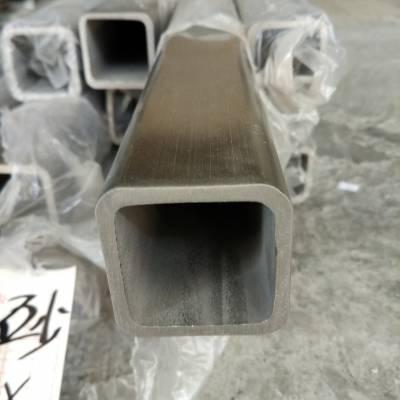 110*110*5.5哑光316不锈钢方管不锈钢管切45度角方法滚压不锈钢方管