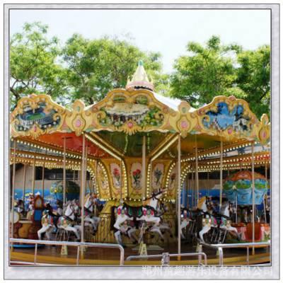 广场小孩游乐场设备,豪华转马设备生产厂家