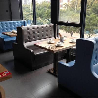 巴中高级饭店家具定做,牛排店高级扶手沙发桌子生产厂家