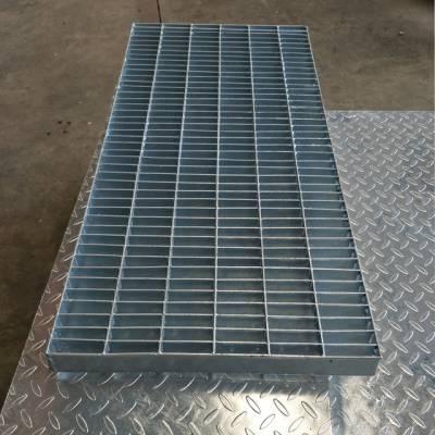 西安镀锌水沟盖板400*1000mm现货批发-对插型方孔热镀锌格栅沟盖板