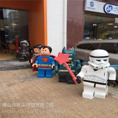 广东动漫人物卡通型定制玻璃钢雕塑-联尖雕塑