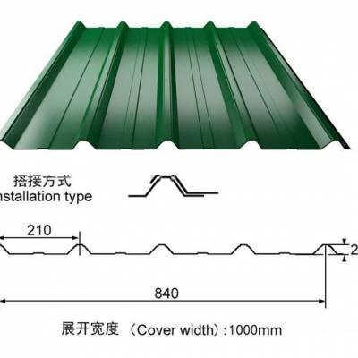 5米的彩钢屋面板感动了上海客户