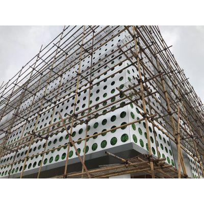 傳祺新能源4S店外立面方通天花 ,傳祺汽車店沖孔造型鋁幕墻板