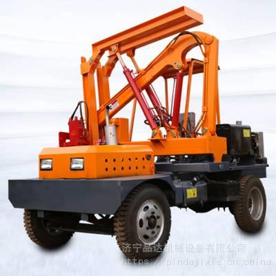 小四轮护栏打桩机 高速公路护栏拔桩机 混凝土路面钻孔机厂家
