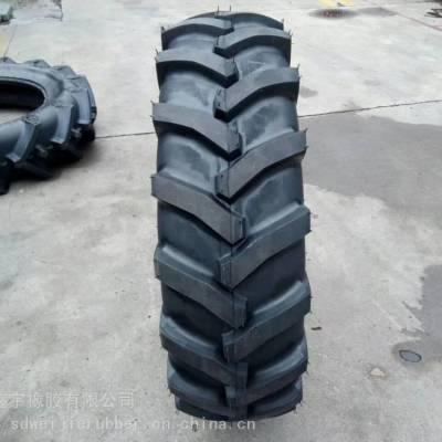 灌溉机防滑轮胎_人字花纹拖拉机车轮胎_耐磨人字花纹轮胎厂家批发