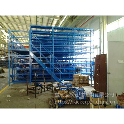 两层1000kg/层固联阁楼重型立体仓库货架,面积600㎡,医疗、车间、汽车货架