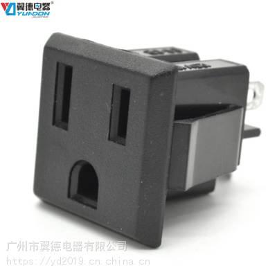 美规卡式插座 北美卡式组装插座 美标机柜逆变器嵌入式工业插座