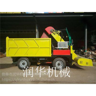 牛场粪污清粪车 无级变速箱清粪车 刮粪运输一体机 润华